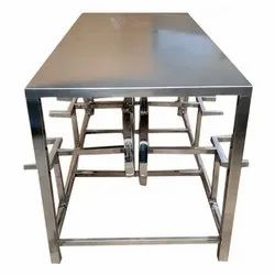 Stainless Steel Foldable Dining Table