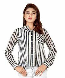 Bane Lifestyle India Printed Western Women Polyester Shirt