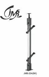 Black Finish Stainless Steel Wooden Railing Pillar