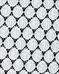White Lycra Lace Fabric
