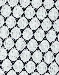 White Lycra Lace Fabric