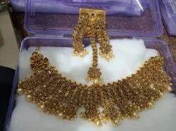 GKM Handicraft Party Wear Diamond Set