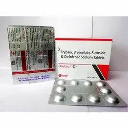 Trypsin, Bromelain, Rutoside & Diclofenac Sodium Tablets