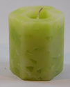 Green Wax Textured Pillar Candles