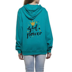 Womens Printed Hooded Sweat Shirt