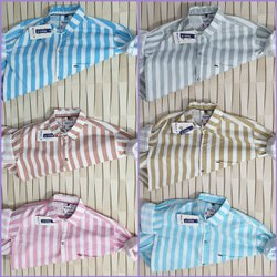 Lining Cotton Mens Casual Shirt, Size: S-xxl