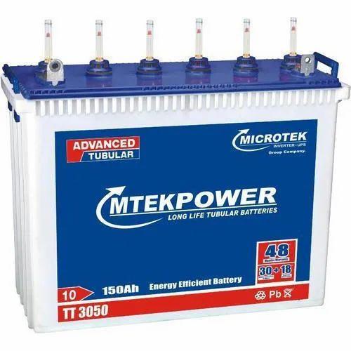 Microtek TT 3050 150AH Tall Tubular Battery