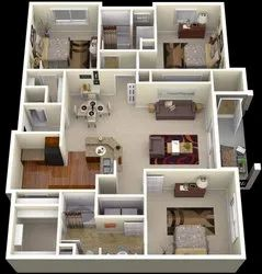 House Interior Layout 3d
