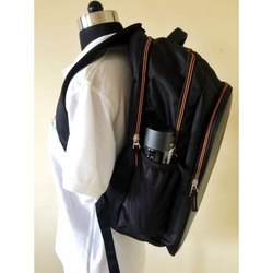 Waterproof Zipper  Plain Shoulder Backpack