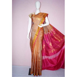 Kancheepuram Silk Multicolor Handloom Soft Silk Saree