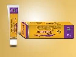Dermifree Cream - Clobetasol Topical 0.05% Gentamycin 0.1% Tolnafate 1%  Iodochlorhydroxyquino
