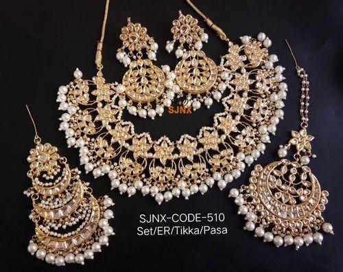 b9023e155bfdb Artificial Jewellery - Designer Kundan Necklace Set Exporter from Mumbai