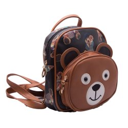 Kidofash Bear Embroidery Fashion Back Pack Hand Bag for Kids