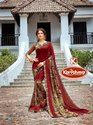 Printed Vichitra Saree - Saniya
