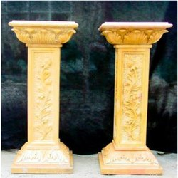 Yellow Marble Pillar