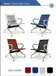 Metal Classic 3 seater waiting chairs