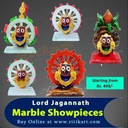 Indoor Multi Marble Work Lord Jagannath Showpieces