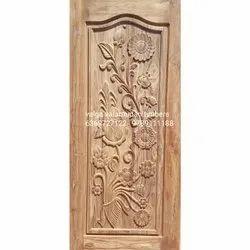 Carved Teak Wooden Door