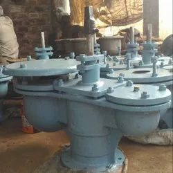 Cast Iron Double Air Valve with In-built Isolation Valve. DS-1/H-40
