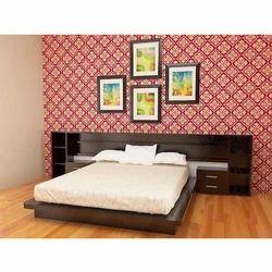 Rectangular Wooden Double Bed