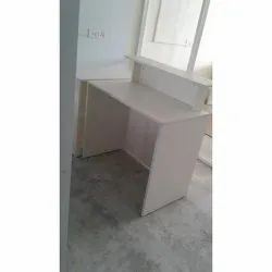 White Office Wooden Reception Table