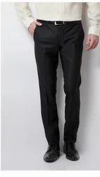 70% Terylene and 30% Rayon Van Heusen Black Trousers VHTF317M00846