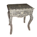Bone Inlay French End Table