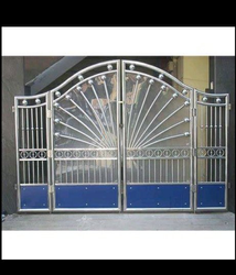Polished Residential Steel Door, Thickness: 30 Mm