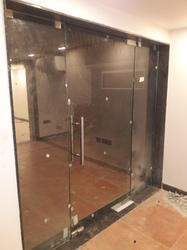 Tinted Glass Door And Partition
