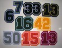 Chenille Number Patches