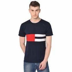 Glito Men's Designer Half Sleeve Cotton T Shirt, Size: S- Xl