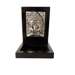 Antique Wooden Framed Buddha Statue
