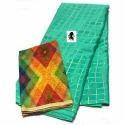 Chinnon Check Printed Silk Saree
