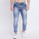 Plain Men Washed Denim Jeans