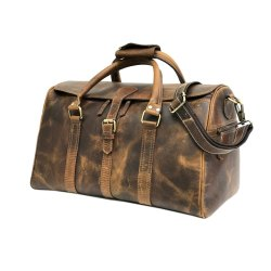Hunter Brown Leather Travel Bag