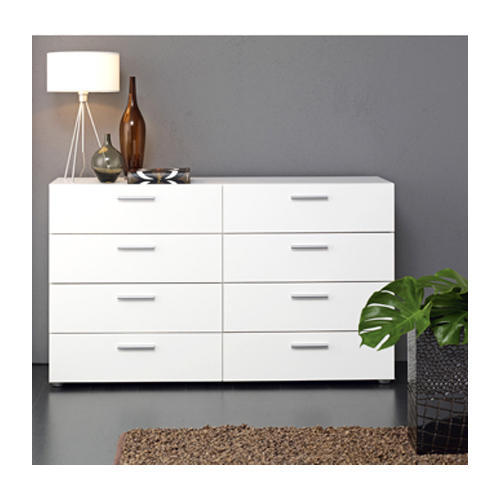 White 2x3 Feet 8 Drawer Double Dresser Rs 25000 Piece Finewood