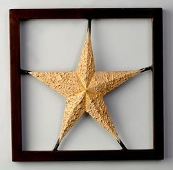 Multicolor THE D.N.A. GROUP Painted Star Wall Hanging