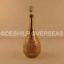 Deshilp Overseas Silver Glass Perfume Decanter