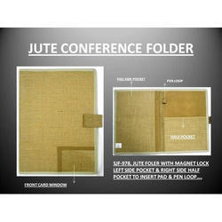 Khadi jute conference folder, Packaging Type: Poly Bag