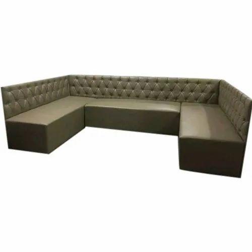 Brown U Shape Sofa Set