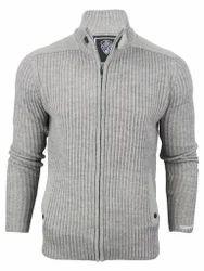 Blooms Grey and Black Mens Zipper Sweater 79e7f45a2