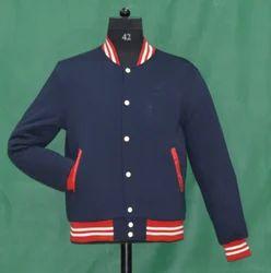 Knit Collar Fleece Jacket