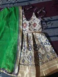 Girls Party Wear Silk Dress
