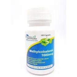 Global Nutrihealth Vitamin B12 Methylcobalamin 1000 Mcg Capsules