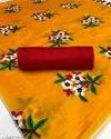 Silk Saree With Embroidery Work