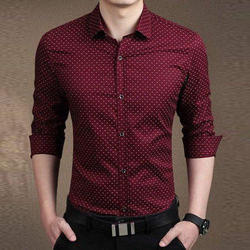 Dotted Printed Mens Shirt