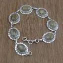 Tiger Eye Gemstone 925 Silver Fashion Jewelry Bracelet