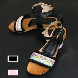 Faux Leather Women Lace Sandal, Size: 36-41