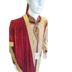 Wedding Wear Traditional Mens Embroidered Sherwani, Size: M-xl