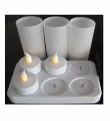 220v Cool White Rechargeable Candles - LED